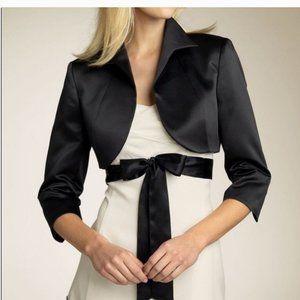 Tahari Cropped Black 3/4 Sleeve Jacket - Size 12